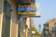 Blues club on Bourbon Street in French Quarter of New Orleans, Louisiana Royalty Free Stock Images