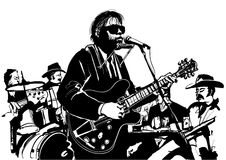 Blues and country jazz guitarist. Vector illustration Stock Images