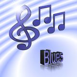Blues - 3D illustration: symbol image for music, entertainment and culture. Blues - 3D illustration, 3D Rendering: symbol image for music, entertainment and royalty free illustration