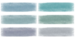 Blues faded grunge banner set Royalty Free Stock Photos
