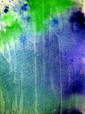 Blues and Greens in Watercolor. Abstract photo of beautiful blueand green watercolor patterns on paper, suitable for textured backgrounds and layers Royalty Free Stock Photography