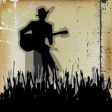 Blues Guitar Concert,. Poster or Flyer for an Acoustic Gig Stock Photography