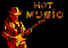 Blues guitar man four Royalty Free Stock Photography