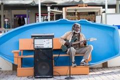 Blues Guitar Player Royalty Free Stock Photos