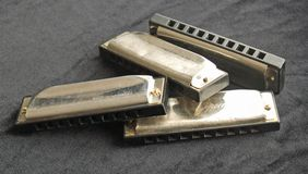 Blues harmonicas Royalty Free Stock Image