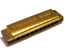 Blues Harp. Musical instrument stock photos