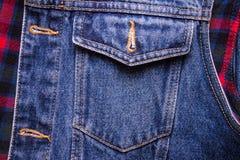 Blues-jean avec la poche pour créer la texture Image stock