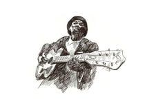 Blues man stock illustration
