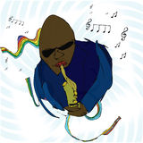 Blues Man. A blues musician is playing a tune on the sax royalty free illustration