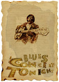 Blues Man with the guitar stock illustration