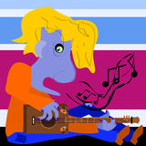 Blues Man Royalty Free Stock Image