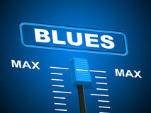 Blues Music Represents Sound Track And Amplifier Stock Images