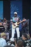 Musician Buddy Guy in Concert, Portland, Oregon 1. This is blues musician Buddy Guy with his band at Portland, Oregon`s Waterfront Blues Festival Stock Photos