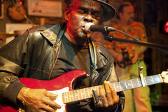 A blues musician, Mississippi. A Blues musician performing, Mississippi Royalty Free Stock Photography