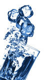 blues pęcherzyków wodą Zdjęcie Stock