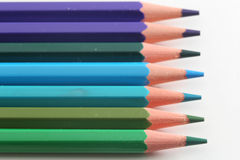 Blues pencils Royalty Free Stock Image