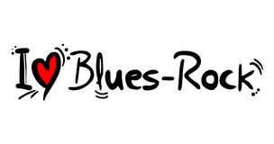 Blues Rock music style love. Creative design of Blues Rock music style love stock illustration