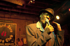 A Blues singer, Mississippi. A man singing blues in a bar in Mississippi Royalty Free Stock Photo