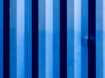 Blues stripes of a shipping container Royalty Free Stock Photo
