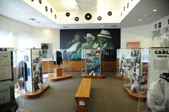 Blues tribute room at the West Tennessee Delta Heritage Center and Museum Royalty Free Stock Photos