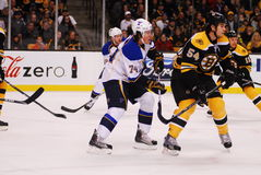 Blues v. Bruins November 6, 2010 Royalty Free Stock Photo