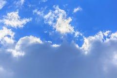 Bluesky和云彩背景在夏天 库存图片