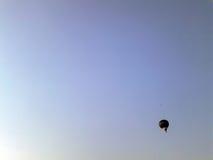 Bluesky. Hot-air balloon on the open blue sky Stock Photography