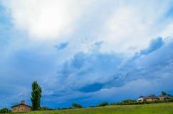 Bluesky landskap Fotografering för Bildbyråer