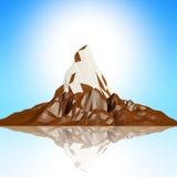 bluesky Polygon des Berg 3d Lizenzfreie Stockbilder