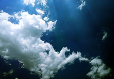 Bluesky and whiteclouds Royalty Free Stock Photos