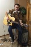 Bluesman en el concierto 10 Foto de archivo