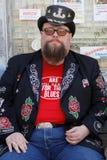 Bluesman Johnny Riley in Clarksdale Immagini Stock Libere da Diritti