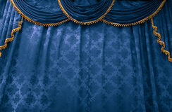 bluestage zasłona Fotografia Stock