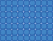 Bluesville Retro Squares Stars. Fun retro rounded squares in shades of blue Stock Photography