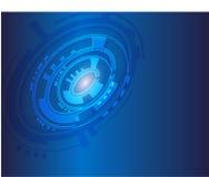 BlueTechnology-Hintergrund lizenzfreie abbildung