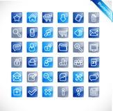 bluetones ikony nowa ustalona sieć Zdjęcie Royalty Free