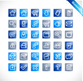 Bluetones - nuevo conjunto del icono del Web stock de ilustración