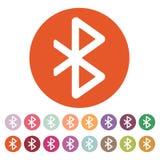 bluetooth象 网络和传输标志 平面 库存照片
