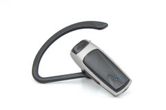 Bluetooth. Headset for use with mobile phone Stock Photo