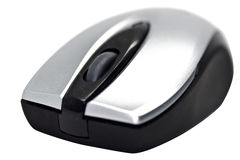 Bluetooth computer mouse. Isolated on white background Stock Photo