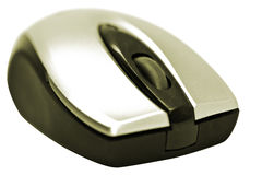 Bluetooth computer mouse. Isolated on white background Stock Photography