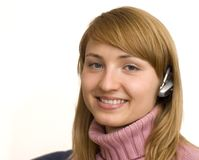 Bluetooth girl Stock Photos