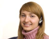 Bluetooth girl stock photos