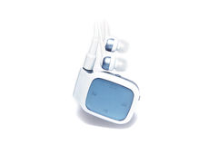 Bluetooth headset. And a white background Royalty Free Stock Image