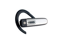 Bluetooth headset. On white background, isolated Stock Images