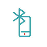 Bluetooth icon on smartphone touchscreen vector ilustration. Stock Image