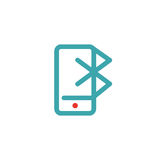 Bluetooth icon on smartphone touchscreen vector ilustration. Royalty Free Stock Photo