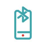 Bluetooth icon on smartphone touchscreen vector ilustration. Stock Photo