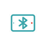 Bluetooth icon on tablet laptop vector ilustration. Royalty Free Stock Photo
