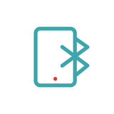 Bluetooth icon on tablet laptop vector ilustration. Royalty Free Stock Images